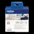 BROTHER Etikett címke DK22113, Átlátszó alapon fekete, folytonos, filmrétegű szalag 62mm, 62mm x 15.24M