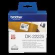 BROTHER Etikett címke DK22225, Fehér alapon fekete papírszalag tekercsben 38mm, 38mm x 30.48M