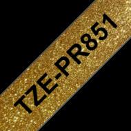 BROTHER Prémium feliratozó szalag TZEPR851, Arany alapon fekete szalag, 24 mm széles, 8m