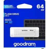 GOODRAM Pendrive 64GB, UME2 USB 2.0, Fehér