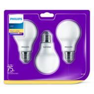 PHILIPS LED E27 izzó - 10,5W (75W), 1055 lm, 2700 K (meleg fehér) 3Pack