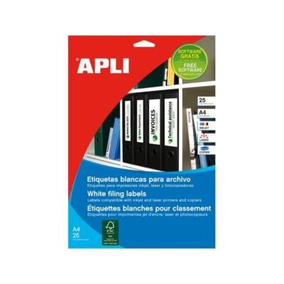 APLI Etikett, univerzális, 190x61 mm, , 100 etikett/csomag