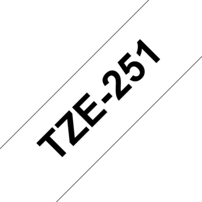 """BROTHER szalag TZe-251, Fehér alapon Fekete, Laminált, 24mm  0.94"""", 8 méter"""