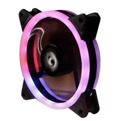 CHIEFTEC Ventilátor AF-12-RGB 12cm, Fekete RGB LED