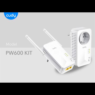 CUDY Powerline AV600 2x100Mbps, Wireless Twin Pack KIT