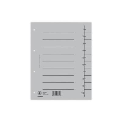 DONAU Regiszter, karton, A4, , szürke