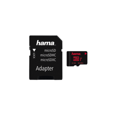 HAMA microSDHC 32GB UHS Speed Class 3 UHS-I 80MB/s + Adapter/Action-Cam