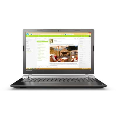"LENOVO IdeaPad 100-15IBD, 15.6"" HD, Intel Core i3-5005(2GHz), 4GB, 500GB HDD, ODD, W10, Black"
