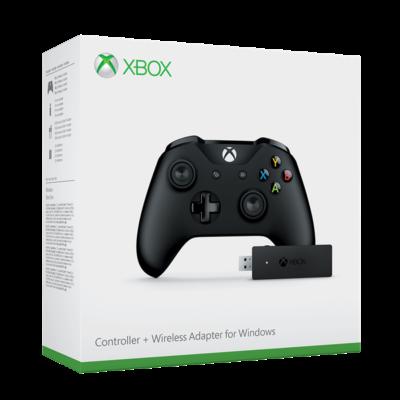 MS Játékvezérlő Xbox One vezeték nélküli kontroller + vezeték nélküli adapter Windowshoz