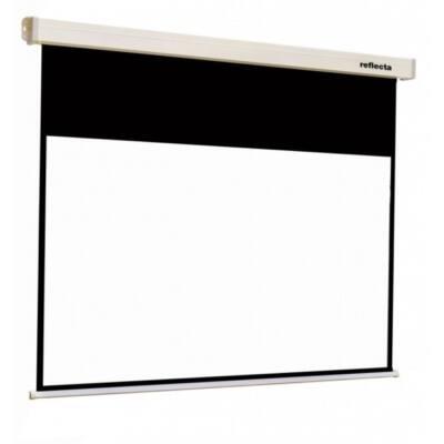 REFLECTA Fali vászon Motoros, Crystal-Line Motor 160x130 cm (látható méret: 156x88); 4 black borders
