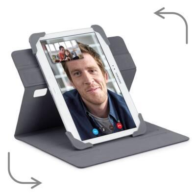 "TARGUS Tablet tok, Fit N' Grip 9-10"" Rotating Universal Tablet Case - GREY"