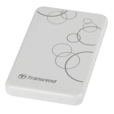 "Transcend 2.5"" HDD USB 3.0 1TB 5400rpm 8MB cache A3 fehér"