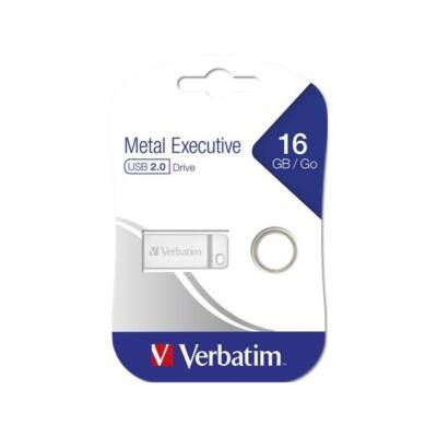 "VERBATIM Pendrive, 16GB, USB 2.0,  ""Exclusive Metal"""