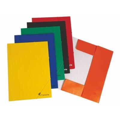 VICTORIA Gumis mappa, karton, A4, VICTORIA, narancs