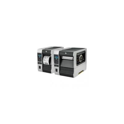 Zebra cimkenyomtató, ZT610, (300 dpi), TT, cimke leválasztó, vissza csévélő, kijelző, ZPL, ZPLII, USB, RS232, BT, Ethern
